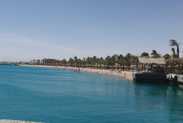 Wassertemperatur in Hurghada in Ägypten am Roten Meer